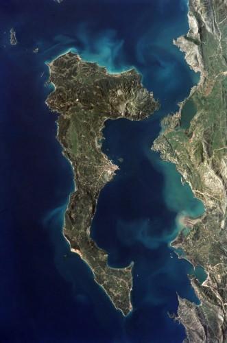 Korfu - zdjęcie satelitarne